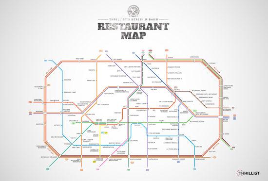 U-Bahn Restaurant Map