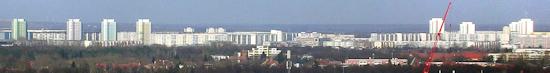 De skyline van Hohenschönhausen