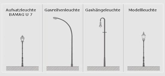Gaslantaarns in Berlijn