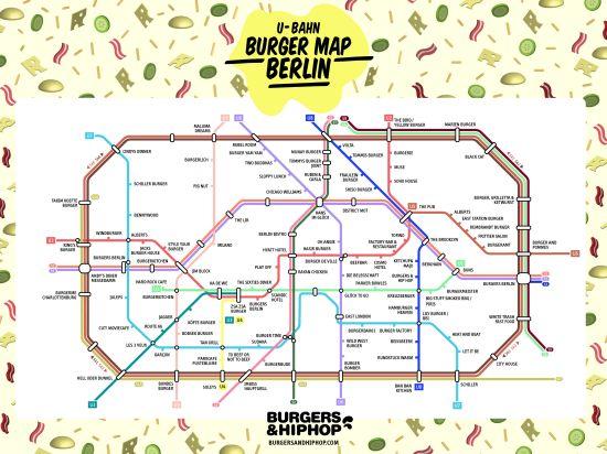 U-Bahn Burger Map Berlin
