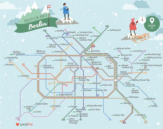Rodelpisten-Karte für Berlin