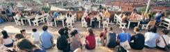 Hippe daktuin in Berlijn
